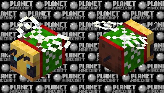 Christmas Bee Minecraft Skin