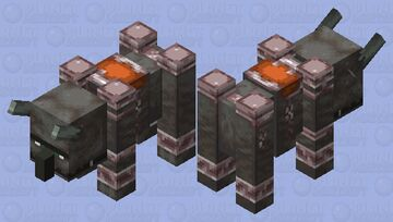 Ravager with rusty armor Minecraft Mob Skin