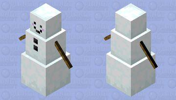 Happy Snowman Minecraft Mob Skin