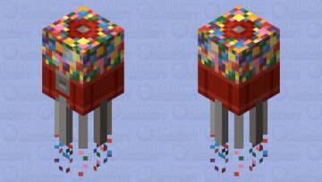 Gum-ball Squid Minecraft Mob Skin