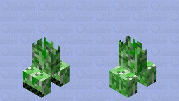 Half a Creeper Minecraft Mob Skin