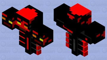 Fire Skin Wither Boss Minecraft Mob Skin