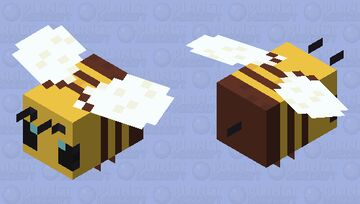 Plastic Bee Minecraft Mob Skin