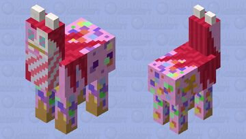 Candy mare (its from a very obscure creepypasta) Minecraft Mob Skin