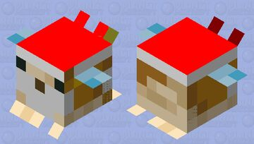 Christmas Pufferfish Minecraft Mob Skin