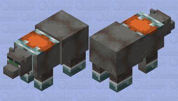 Polar bear but it looks like a ravager Minecraft Mob Skin