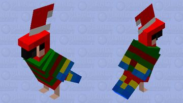 Christmas Parrot! Minecraft Mob Skin