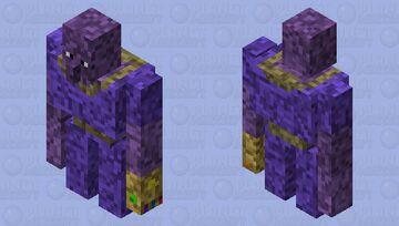 Really grainy Thanos Minecraft Mob Skin