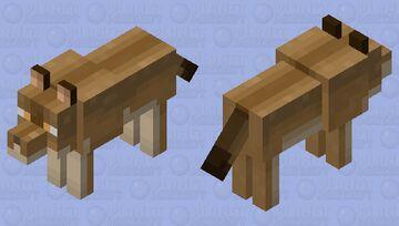 A brown wolf Minecraft Mob Skin