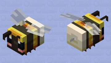 Bumble Bee ( + angry & pollen versions) Minecraft Mob Skin