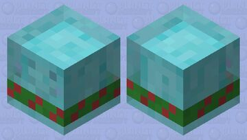 Cold Slime with a Scarf Minecraft Mob Skin