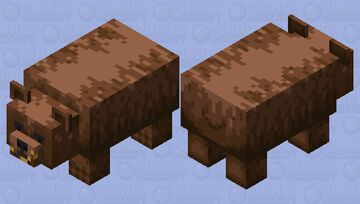 Brown Bear (Honey Version) Minecraft Mob Skin