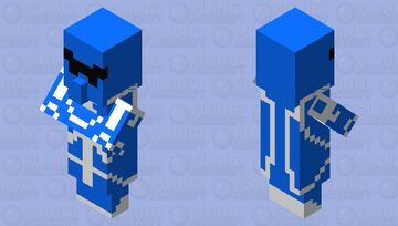Vilager Ranger Blue Minecraft Mob Skin