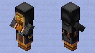 Jack-O-Lantern Wandering Trader Minecraft Mob Skin