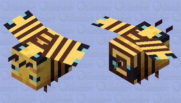 Many bees in one bee Minecraft Mob Skin