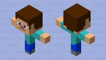 Steve T-Posing Minecraft Mob Skin