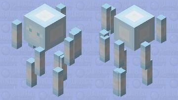 Ice/snow blaze Minecraft Mob Skin