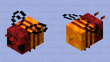 Nether Wastes Bee Minecraft Mob Skin