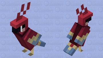 Red parrot! (Spiidey!) Minecraft Mob Skin