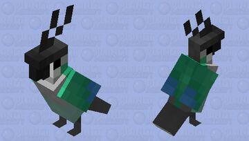 Green Cheek Conure Minecraft Mob Skin