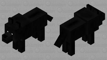 Black Wolf (HD) Minecraft Mob Skin