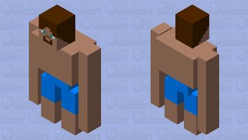 Steve Golem Minecraft Mob Skin