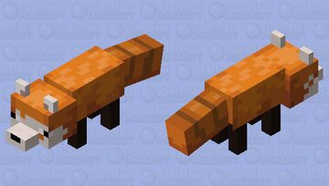 Red Panda) For twitch streamer (nomuvr) Minecraft Mob Skin