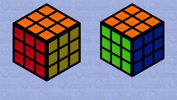 Rubiks Cube. Minecraft Mob Skin