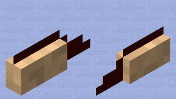 squished homemade nutella sandwich Minecraft Mob Skin