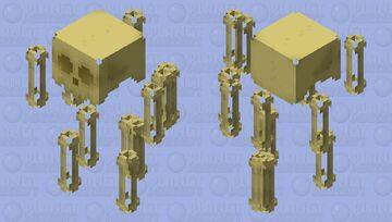 Scattered Bones Possessed by Fire Spirit Minecraft Mob Skin