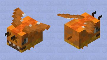 Fiery Beegon (MrDementorFace Dragon Bee contest entry) Minecraft Mob Skin