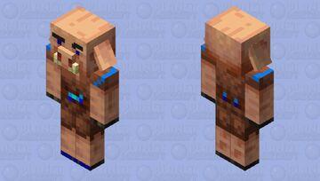 The diamond piglin Minecraft Mob Skin