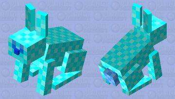 Ice Bunny Diamond Minecraft Mob Skin