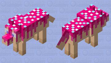 Cake Wolf w/sprinkles Minecraft Mob Skin