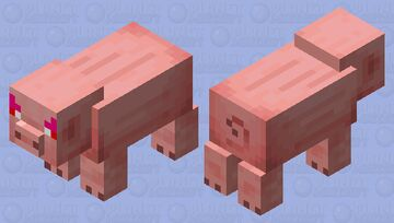 Angry Pig Minecraft Mob Skin