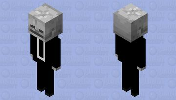 skeleton in a suit Minecraft Mob Skin
