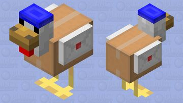 Delivery Chicken Minecraft Mob Skin