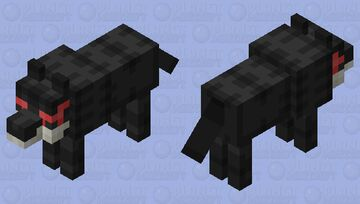 Wolf of darkness (MC mobs re-imagined contest entry) Minecraft Mob Skin