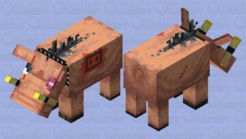 Escaped Hoglin Minecraft Mob Skin