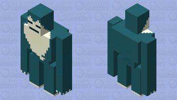 Snorlax v2 Minecraft Mob Skin