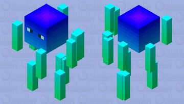 Only cold colors blaze Minecraft Mob Skin