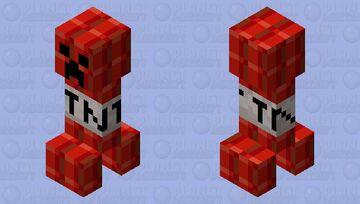 TNT creeper Minecraft Mob Skin