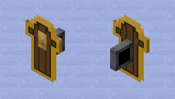 Minecraft Dungeons - Skeleton Vanguard's Shield Minecraft Mob Skin