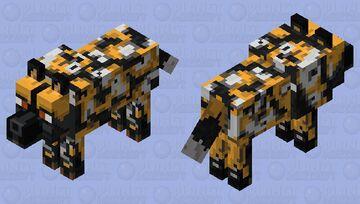 African Wild Dog Minecraft Mob Skin