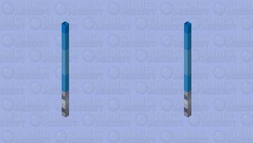 Blue Lightsaber - Mob Skintober 2020 - Day 8 Minecraft Mob Skin
