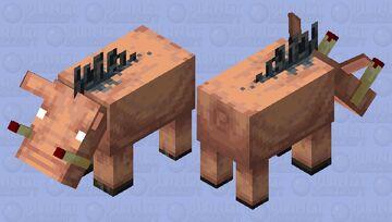 Hoglin with bloody tusks Minecraft Mob Skin