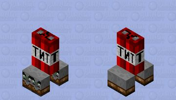 Mini Exprosive Raider Horde with TNT Minecraft Mob Skin