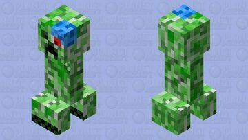 Cyborg Creeper Minecraft Mob Skin