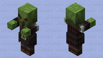Zombie Pillager Minecraft Mob Skin