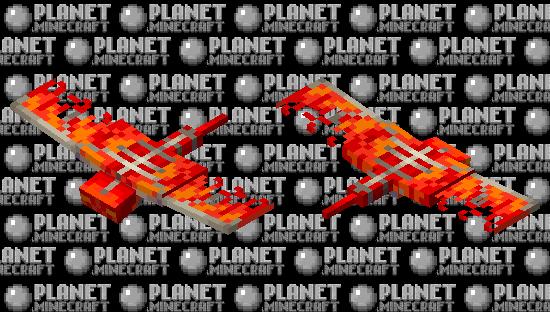 Fire phantom Minecraft Skin